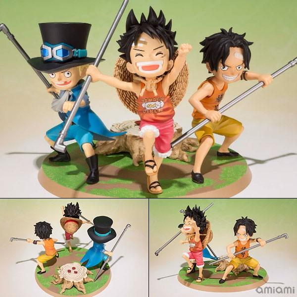 Figurine Luffy, Ace, Sabo – One Piece