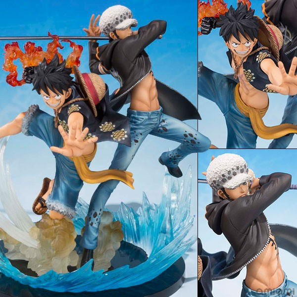 Figurines duo Monkey D. Luffy & Trafalgar D. Water Law