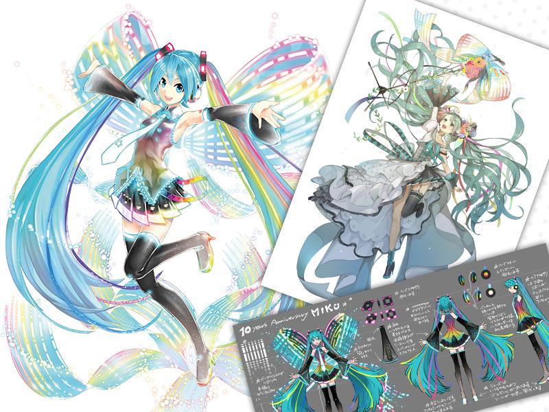 "Hatsune Miku: 10th Anniversary Ver. Memorial Box + 390 Pages ""Hatsune Miku Archive"" Commemorative Book (Format A4) – Vocaloid"