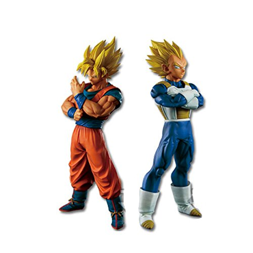 Lot 2 Figurines Son Goku SSJ + Vegeta SSJ – Dragon Ball Super