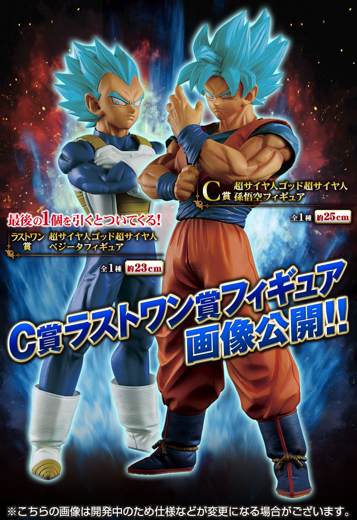 Lot 2 figurines Son Goku SSJ God SS + Vegeta SSJ God SS (Son Goku Vegeta Super Saiyan Blue + Vegeta Super Saiyan Blue) – Dragon Ball Super