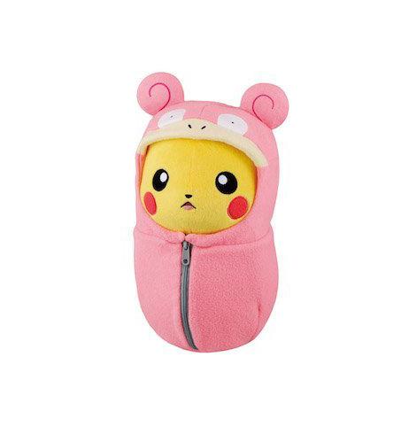 Peluche Pikachu dans son sac de couchage Ramoloss – Pokemon