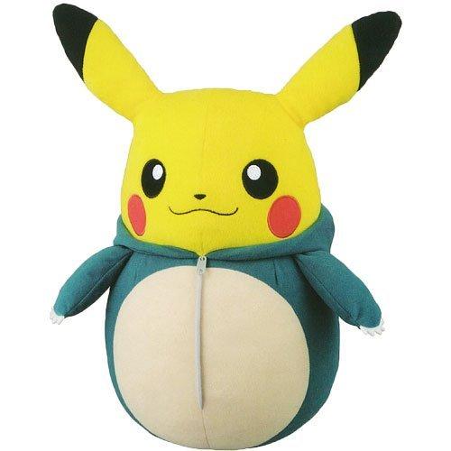 Peluche Pikachu dans son sac de couchage Ronflex – Pokemon